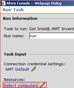 3. Click Run Now at the top of the right pane. 4. Enter a run name for this inventory (for tracking purposes). 5. Select the resource link Select computers (see Figure 2)