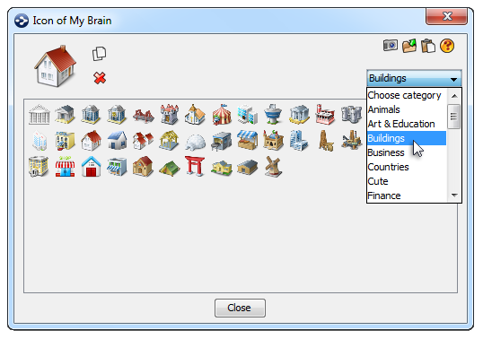 TheBrain Icons Figure 6. Thought Context Menu 3.