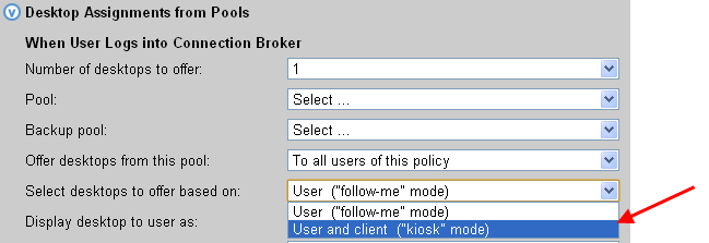 Leostream Connection Broker Administrator s Guide o Kiosk mode is designed to support generic user accounts (see Kiosk Mode).