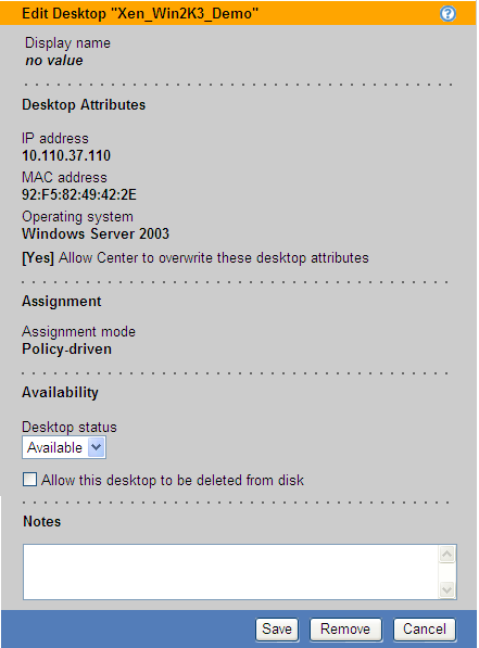 Leostream Connection Broker Administrator s Guide The permissions control individual sections of the Edit Desktop page.