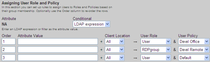 Chapter 14: Assigning User Roles and Policies 4. If you are using locations, select a location from the Client Location drop-down menu 5.