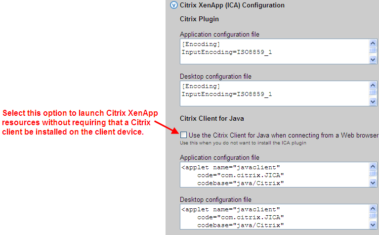 Leostream Connection Broker Administrator s Guide If the Use the Citrix Client for Java when connecting from a Web browser option is not selected, the Connection Broker requires an installed Citrix