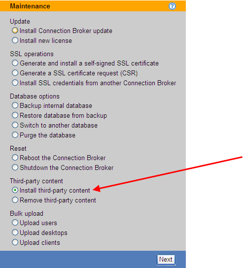 Chapter 3: Configuring Connection Broker Settings Select None to hide the Leostream logo and favicon.