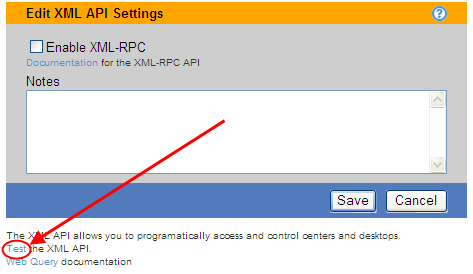 Chapter 19: Monitoring the Connection Broker 2. Select the Enable XML-RPC option. 3. You can enter optional information about how you are using the XML-RPC into the Notes edit field.