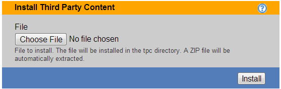 Chapter 20: Maintaining the Connection Broker Installing and Removing Third Party Content You can upload arbitrary Web content into the Connection Broker Web server using the Install third party