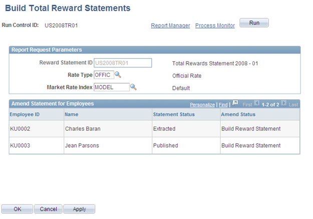 Chapter 7 Implementing the Total Rewards Statement Build Total Reward Statements page Note.