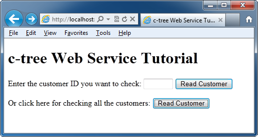 Creating a c-treeace Web Service for JEE Chapter 1 This tutorial will explore the process of creating a Web Service that makes a c-treeace database available to JEE (Java Enterprise Edition)