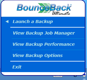 5. Additional Features How to access BounceBack Ultimate If you would like to perform further adjustments to your backup configuration or even perform an incremental backup, you may do so by