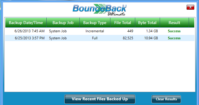 View Backup Performance You can view a brief backup report directly from the Backup Monitor.