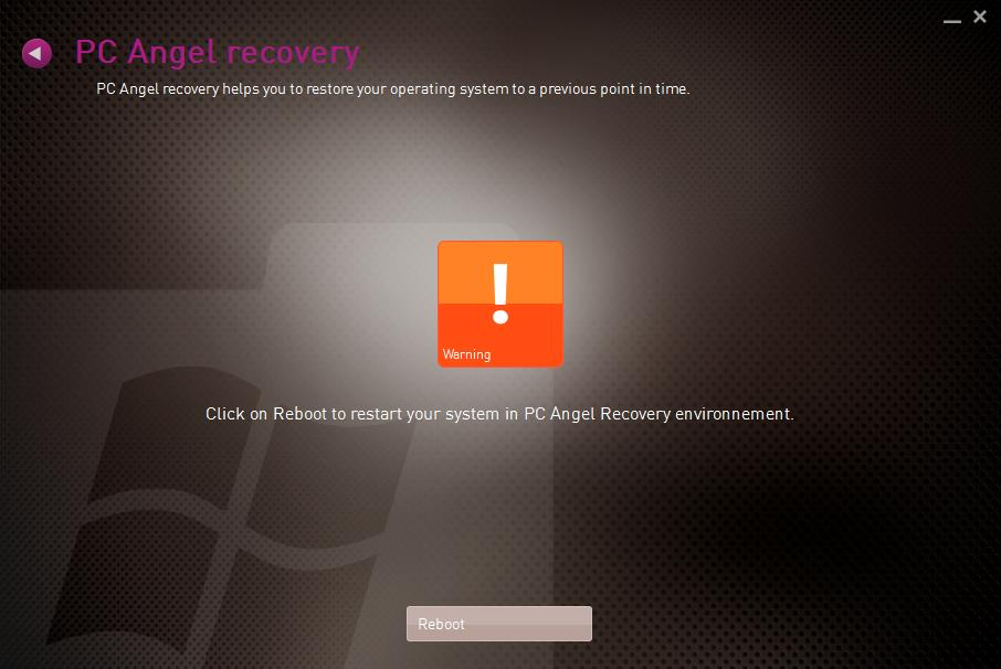 Then click on «Reboot» to access to the recovery