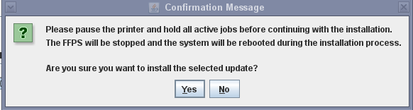 Install the Patch: 5. Note: Installation of the Bash Patch will require a re-boot of the FFPS DFE.