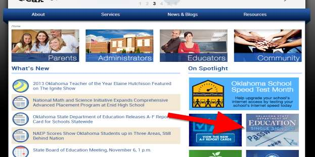 Getting Started Begin by accessing the Oklahoma State Department of Education website. http://www.ok.