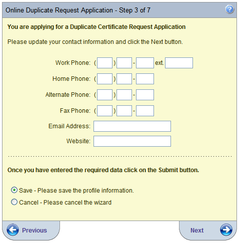 Step 2 Verify or update your address information Click Next Step 3 Verify or