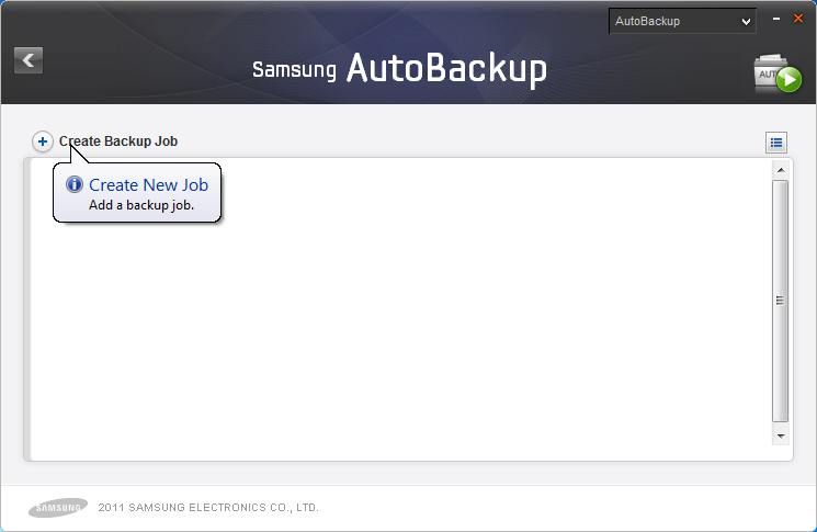 "Chapter 2 Using Samsung Drive Manager Backup Click ""Create Backup"" on the Samsung AutoBackup screen to go to the"