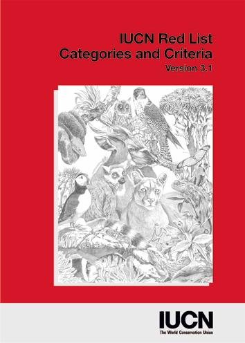 The IUCN Red List of Threatened species An estimate of
