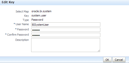27 2. Select oracle.bi.system> edit 3. Type the required password and select Ok. 4. Launch admin tool and open rpd in OFFLINE Mode 5.