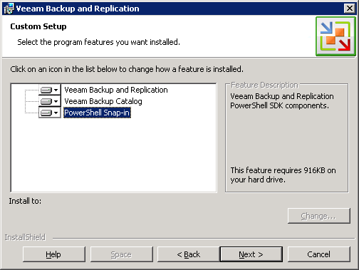 5. To apply the license file, click Browse... and select it from your file list. 6. Click Next to continue. 7. Specify the installation folder for each Veeam component.