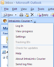 Pausing and resuming a package transmission You can pause and resume package transfers using the Transfers screen, available from the IntraLinks Courier menu on the Outlook menu bar.