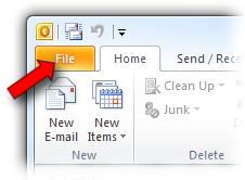 will automatically be prompted to set up a new email account, and can skip to the section titled Account Setup on page 5. It is not necessary to create a new profile.
