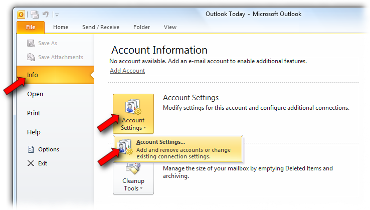 To set up Microsoft Outlook 2007 to access your email account, follow these instructions.