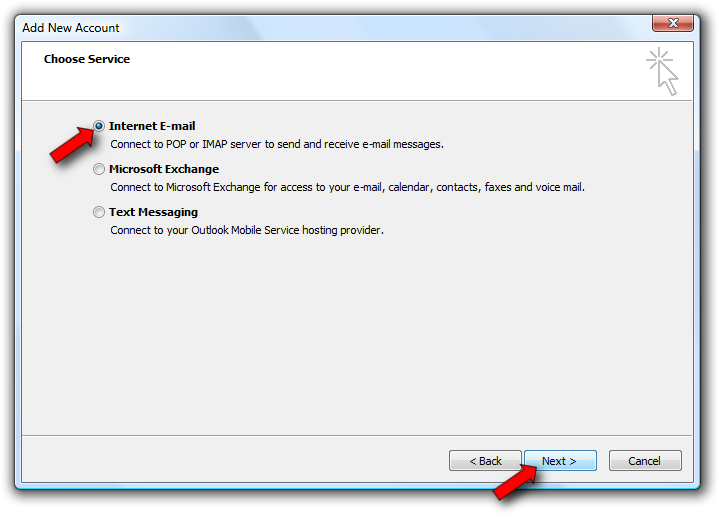 Account Setup Select Manually configure server settings or additional