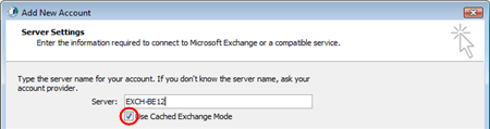 Step 8 Select Microsoft Exchange or compatible service and click the Next button.