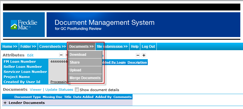 How to Add Documents to a Folder Documents can be uploaded once the user is in the FM Loan Folder. The upload functionality allows users to upload files one at a time.