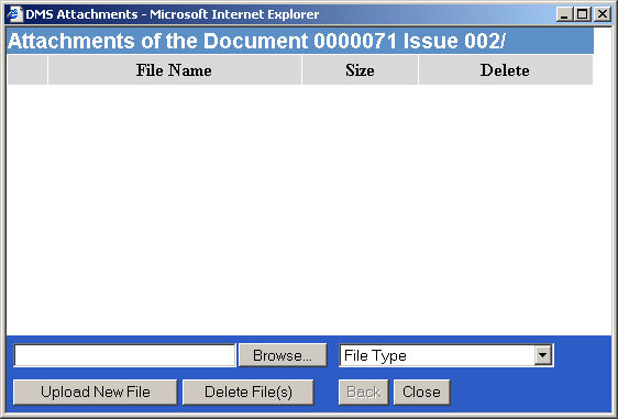 8 Attachments The Attachments Window enables multiple files to be attached to the currently open document.
