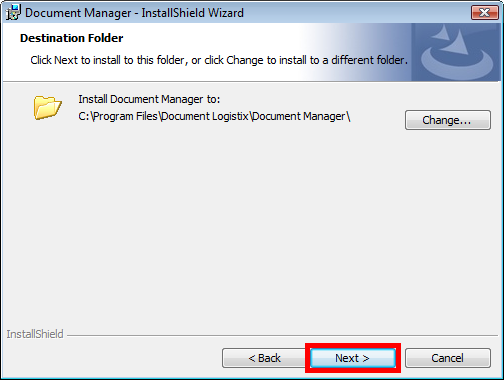 Installing the Document Manager 2.7 Client Upgrading to Document Manager 2.7 Step Description Screenshot Step 1 (cont.) 4. Double-click on the installation file for Document Manager 2.