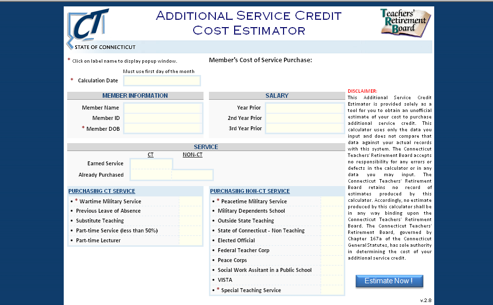 Additional Credited Service Determining the Cost