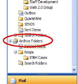 5. Archive everything in the selected folder by clicking on Today OR archive everything older than a particular date that you select from the Archive items older than: drop-down calendar 6.
