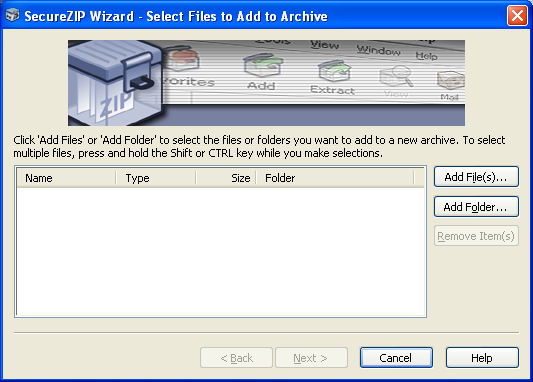 3. How to create a zipped and encrypted file You can create a zipped and encrypted file simply by clicking Wizard and selecting Create New