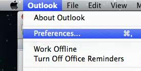 Maintenance Setting up an Email signature Go to Outlook in the top left corner of the screen, and then go to preferences.