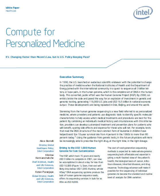 Policy United States, European Union Snapshot of US, EU Recommendations Develop an ICT-enabled European Strategy for Personalised Medicine 2014-2020 Driving research to unleash the potential of ICT