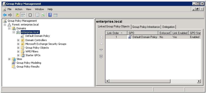 Figure 13: Group Policy Management 2.