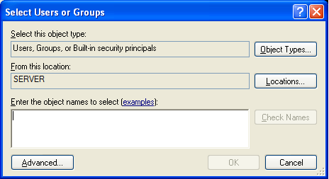 Installing Professional Edition Clients 8 Verify that there is a group named Everyone in the Group or user names list. If there is, skip to step 12. WARNING!