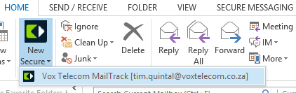 Changing the default MailTrack email address If you communicate with more than one MailTrack enabled email address, the Toolbar will display all of them as a selection when