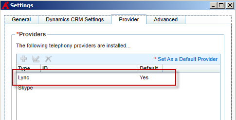 Configuring Providers In order to use CallAssist, end-users must add the applicable providers and set one as the default provider.