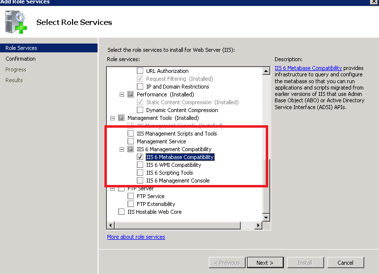 IIS Client Certificate Mapping Authentication.IIS 6 Metabase Compatibility 3.