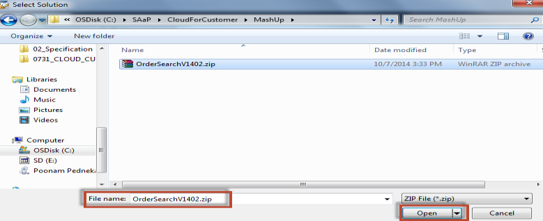 How to configure an example SAP Cloud Applications Studio (PDI) solution 11 7.