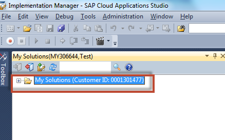 How to configure an example SAP Cloud Applications Studio (PDI) solution 9 6.