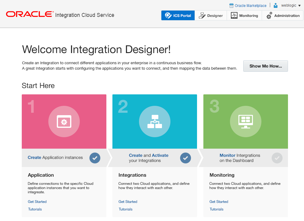 Oracle Integration Cloud Service Key Features Simplified: Web based, Point & Click integration experience Highly Visible: Rich monitoring & error management Lifecycle : Support both on-premise, cloud