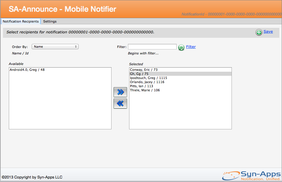 Mobile Notifier - Administrator Guide 2.