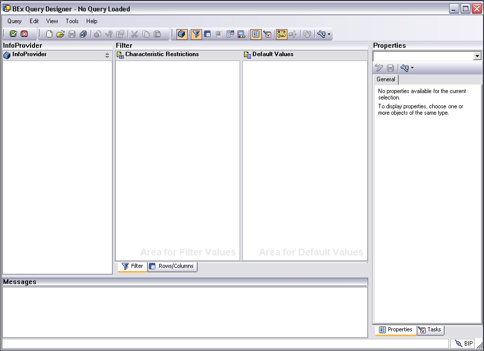 Accessing BEx Tools via SAP GUI BEx Query Designer can be accessed from the