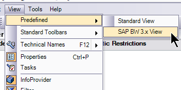 Accessing BEx Query Designer To access the SAP BW 3.