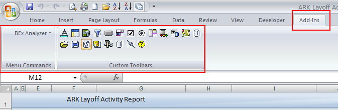 BEx Query Analyzer Overview BEx Query Analyzer is the tool used to analyze ad hoc query results in MS Excel.