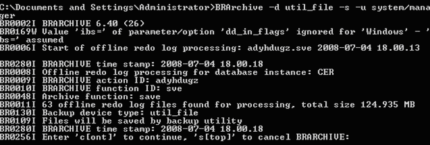 Database Backup Using the BR*Tools command Offline Backup of Tablespace You can perform offline back up of a tablespace using the following procedure. To perform an offline backup of a tablespace 1.