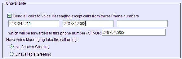 Changing the Details of a Profile To change the settings of a profile, you need to access the Voice Portal and configure the Incoming Calls service configuration web page. 1.