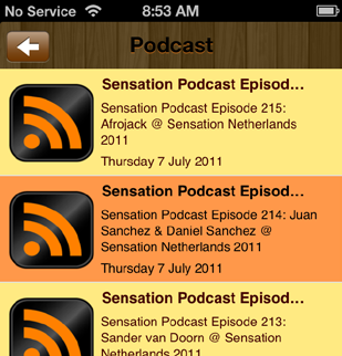 Podcast Feature A Podcast Feature is an excellent way for any business to display their media content on a mobile device. All you need is your existing podcast link!