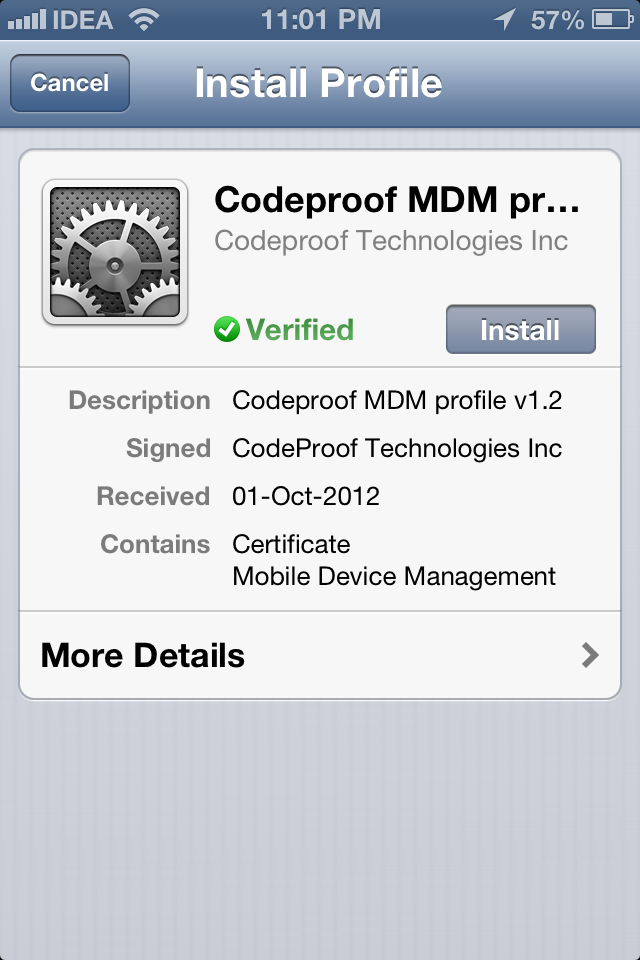 iphone/ipad App download link is here 2. CODEPROOF ANDROID APP Codeproof Android Agent app contains a complete mobile antivirus component.